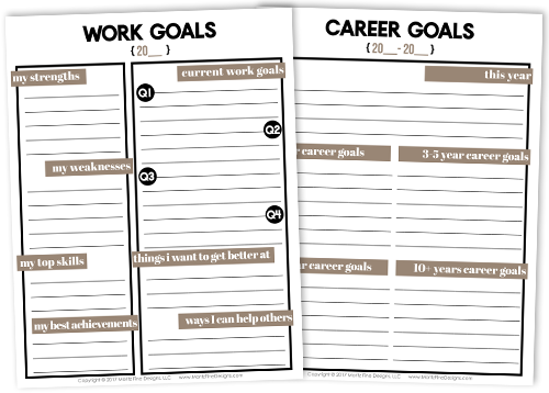 Not sure where to start to relieve work stress? These 5 simple tips & tricks are a great place to start along with the free printable Work & Career Planner.
