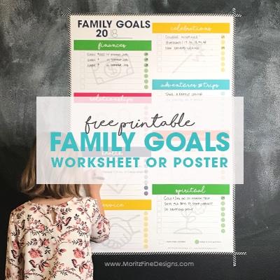 Family Goal Worksheet Free Printable