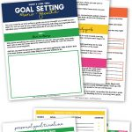 Learn to create achievable short & long term goals with the free printable goal setting worksheets, used to create goals and set a timeline to achieve them.