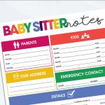 Use the Free printable Baby Sitter Notes Organizer Sheet to leave all the must-have details your baby sitter needs for a successful baby sitting experience. #babysitternotes #babysitterinfosheet #freeprintable