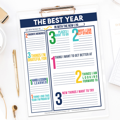 The Best Year Reflection & Goal Setting Worksheet for Kids & Adults
