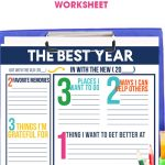 Take time to reflect on the past year and set goals for the new year using the Goal Setting Worksheet. Download now for free, it's great for kids & adults!