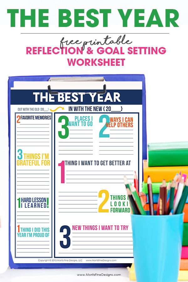 take time to reflect on the past year and set goals for the new year using