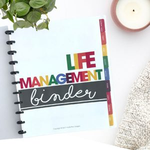 The Life Management Binder can easily transform the chaotic details of your home-life into one organized location and help you get more done in less time.