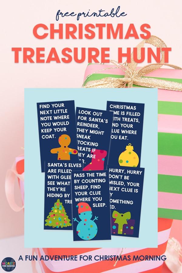 Use this free printable Christmas Treasure Hunt for kids as a fun activity during the Christmas season.