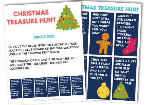 picture regarding Christmas Scavenger Hunt Printable Clues called Totally free Printable Xmas Treasure Hunt Enjoyment Recreation for Little ones
