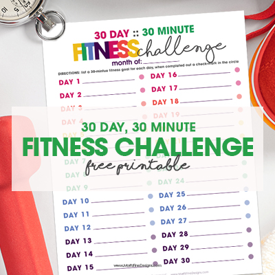30 Day, 30 Minute Fitness Challenge