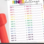 Don't lose your fitness motivation! Take the 30 Day, 30 Minute Fitness Challenge to get on the right track to exercise daily! Get your free printable Fitness Challenge now.
