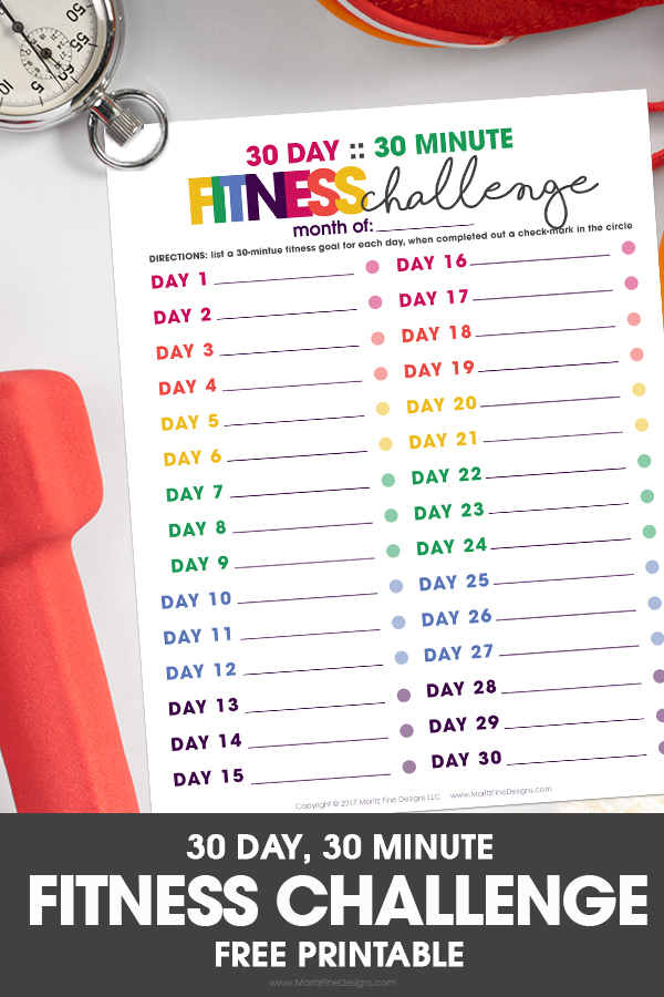 image relating to 30 Day Abs Challenge Printable titled 30 Working day, 30 Moment Conditioning Situation Absolutely free Printable