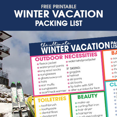 Winter Vacation Packing List