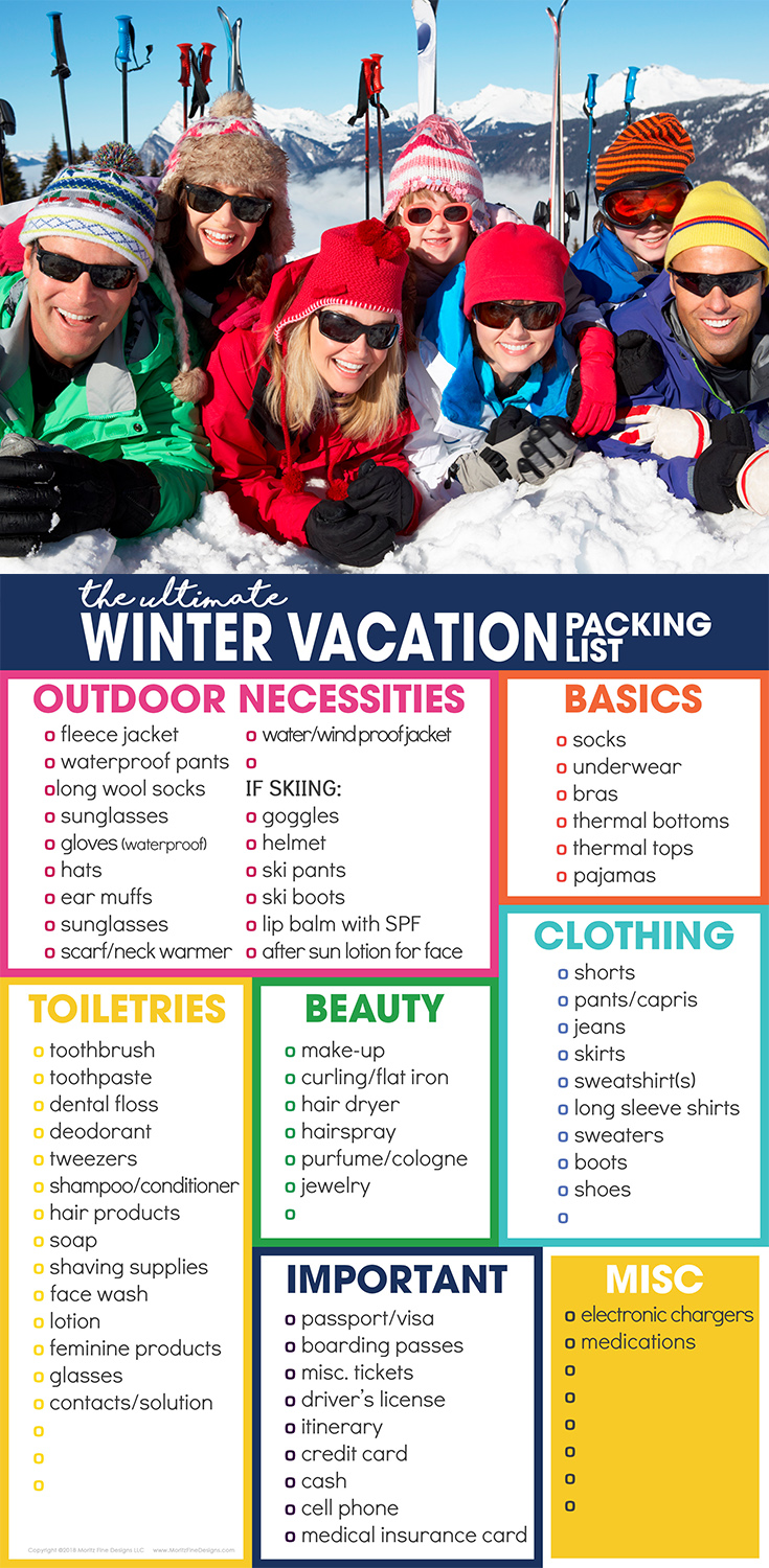 Struggling to pack for your winter vacation? Grab your free winter vacation packing list to help you stay organized for your cold weather travel.