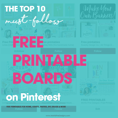 Top 10 Free Printable Pinterest Boards