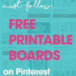 Do you love to use printables for all things home, organizational, decorative and more? If so, you will love these Top 10 Free Printable Pinterest Boards that you need to follow on Pinterest.