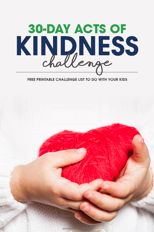 Doing random acts of kindness is so easy and fun!  Try the 30-Day Acts of Kindness Challenge with your kids. There are more than 50 ideas listed on the free printable challenge sheet.