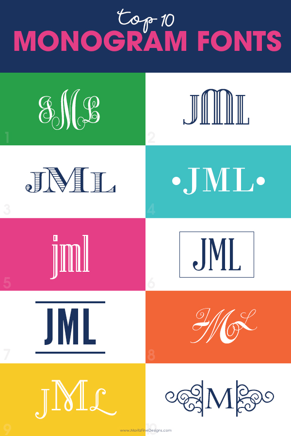 Top 10 Free Monogram Fonts | MoritzFineBlogDesigns com