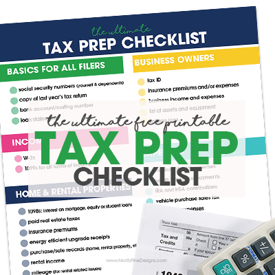 The Ultimate Income Tax Prep Checklist