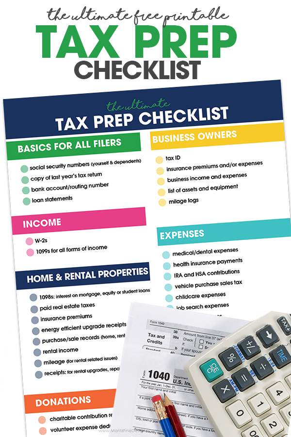 photograph regarding Its Deductible Printable List titled Sales Tax Prep Record No cost Printable List
