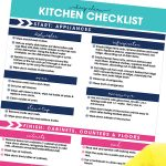 It's time to get that dirty kitchen clean. Use this free printable Deep Clean Kitchen Checklist to get your kitchen clean in no time at all. This simple guide keeps you on track and focused to getting your cleaning project done quickly!