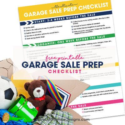 Garage Sale Prep Checklist