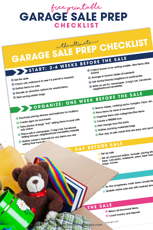 Garage Sale Prep Checklist – How To Plan A Garage Sale