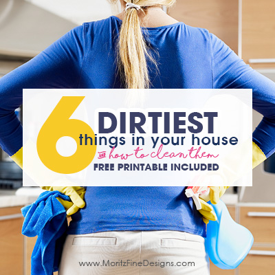 6 Dirtiest Things in your House Cleaning Printable