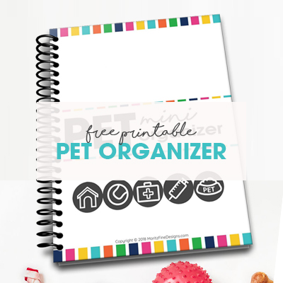 Free Printable Pet Mini-Organizer