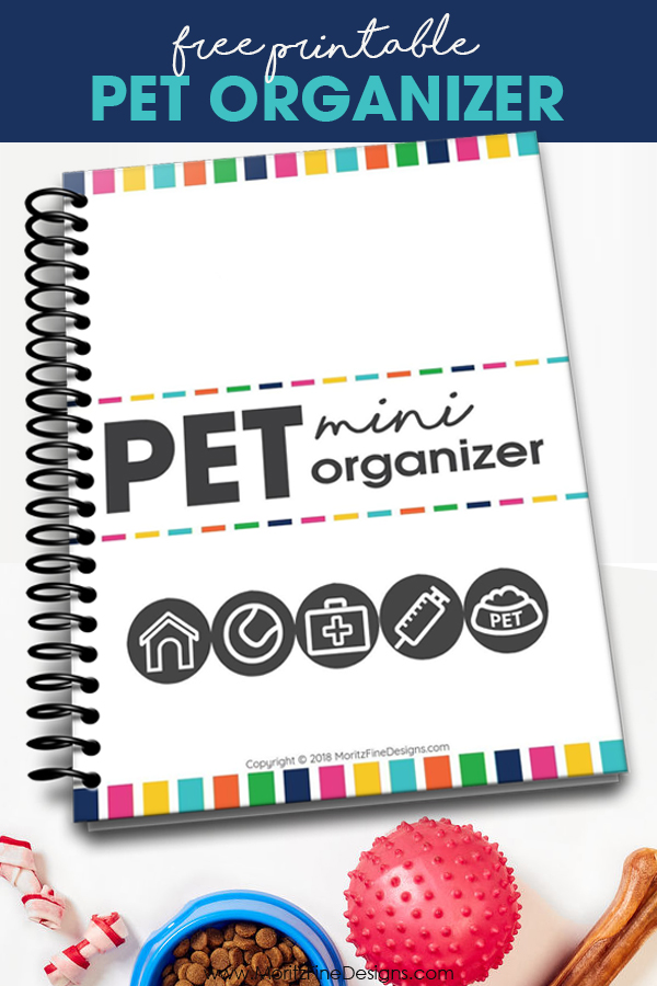 Never forget any important information about your pets when you use this free printable pet organizer! It's the perfect place to keep all the pet details in one location.