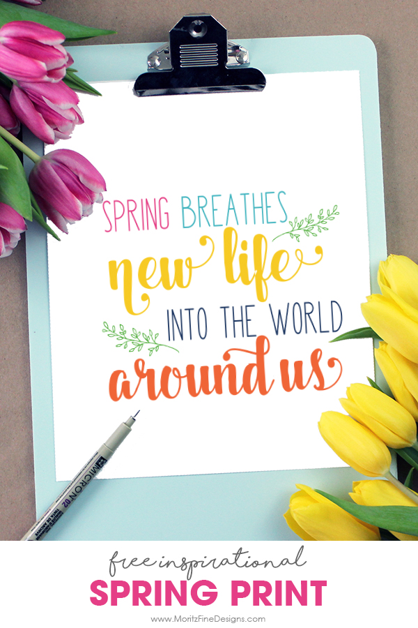 It's time so freshen up your home decor, and you can do it for free! Use the free Spring Decor Printable for a great inspirational splash of spring in your house! Easy to download and print.