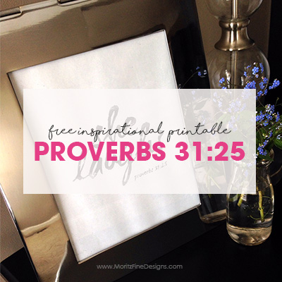 She Laughs | Proverbs 31:25 Free Printable