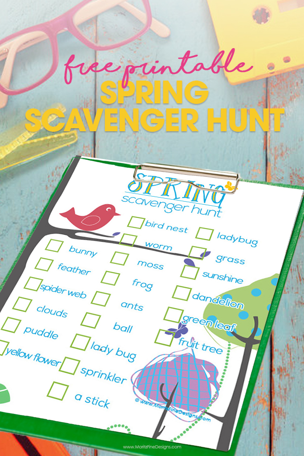 Ready to send your kids outside this spring for a super fun activity? Use this Kid's Spring Scavenger Hunt to get your kids exploring for birds, bugs, trees, flowers and more!