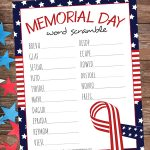 Celebrate Memorial Day with the kids by doing this Memorial Day Word Scramble. It's the perfect way to ponder all of the important topics related to this holiday.