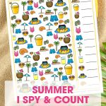 Your kids will have a blast with this fun free printable Summer I Spy Activity for kids. It's the perfect game for in the car, at the beach or at home!