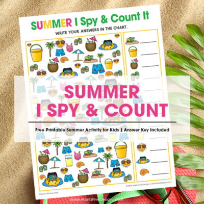 Summer I Spy Activity for Kids | I Spy Game & Count It