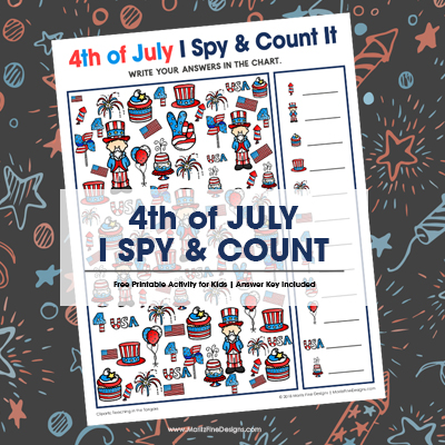4th of July I Spy & Count It Activity for Kids
