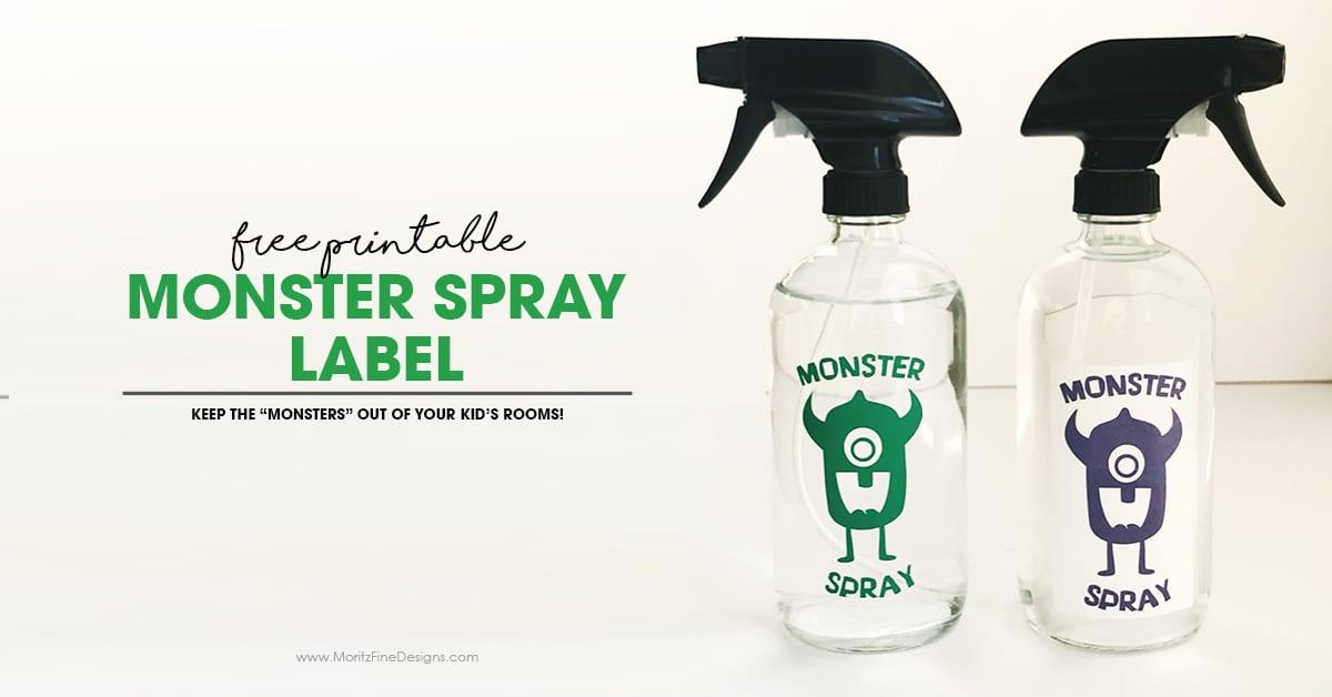 Diy Monster Spray Free Printable Label To Keep The