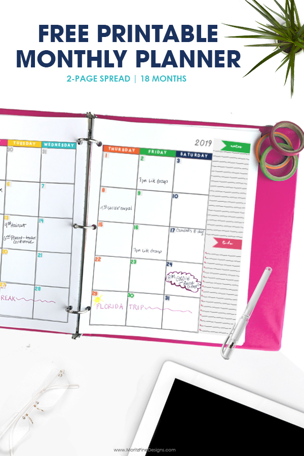 It's just an image of Delicate Printable Monthly Planner
