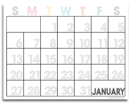 This free 2019 printable calendar is exactly what you need to get organized. It's easy to download, print and begin using instantly.