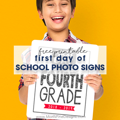 First Day of School Photo Signs | Free Printable
