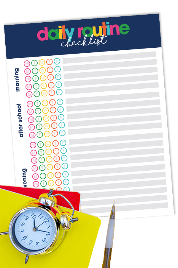 Use this best Daily Routine Checklists to make the transition back to the day in and day out school routine easy for kids and parents.
