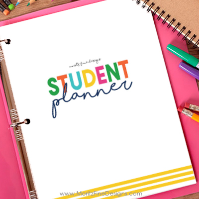 Keep your student organized this school year with the free printable Student Planner that's customizable for kids in all grades.