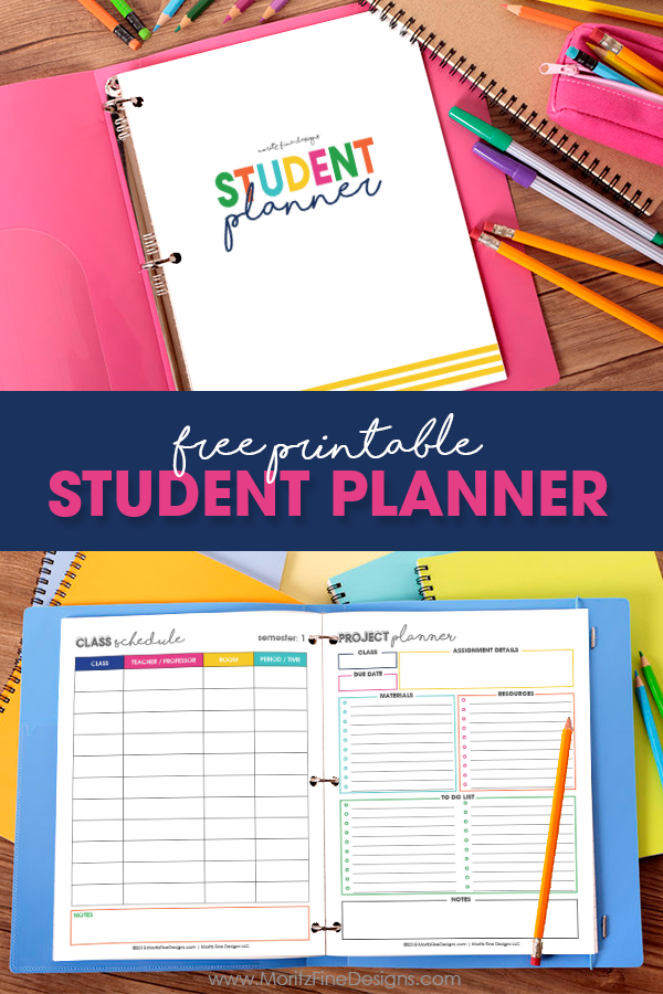 Free Printable Student Planner | Elementary, Junior High