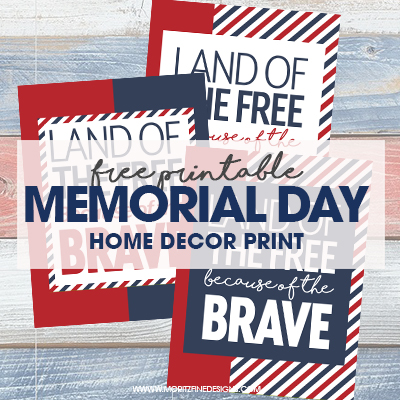 Decorate your home, office or school with these free printable Memorial Day Printables. Easy and free to print, frame and hang.