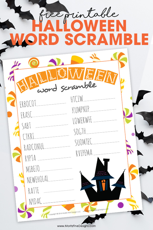 Have fun celebrating Halloween at home or at school! Kids will have a blast trying to unscramble the words in this free printable Halloween Word Scramble!