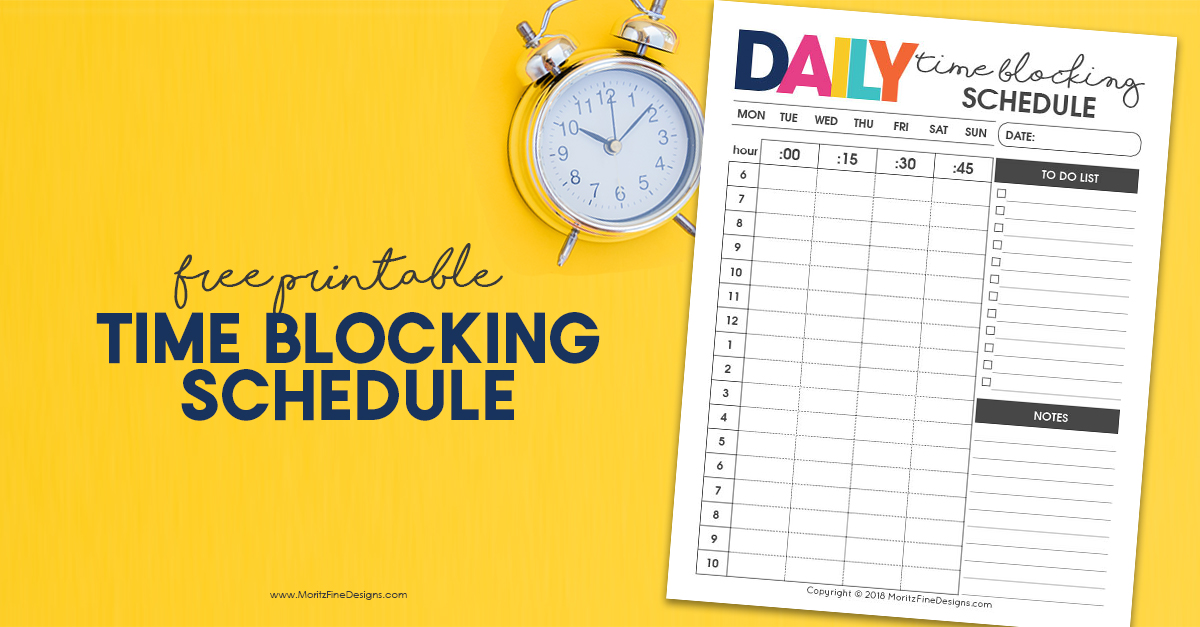 daily time blocking schedule