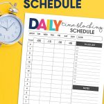 The free printable and simple Daily Time Blocking Schedule is the perfect way to get what seems like your never ending list of tasks complete.