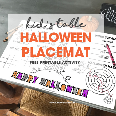 Halloween Placemat for Kids