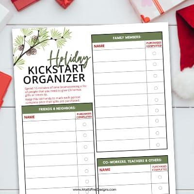 Holiday Kickstart Organizer