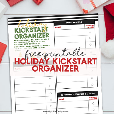 Holiday Kickstart Organizer