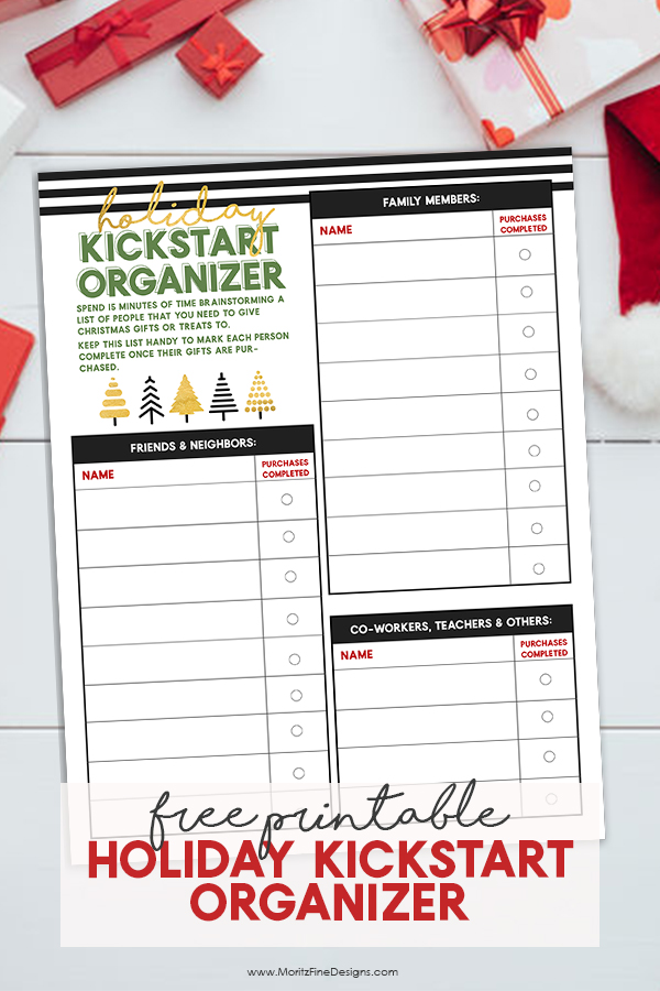 The Holiday Kickstart Organizer is the perfect guide to get you on the right foot this holiday season. This free printable will keep you organized.