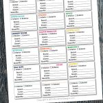 Keep track of all the paint colors in your home in one location with this easy to download free printable House Paint Planner.